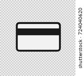 credit card vector icon eps 10. ... | Shutterstock .eps vector #724040620
