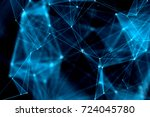 abstract technology and future... | Shutterstock . vector #724045780