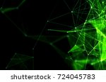 abstract technology and future... | Shutterstock . vector #724045783