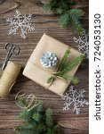 christmas gift box. christmas... | Shutterstock . vector #724053130