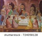 san gimignano  italy   july 11  ...   Shutterstock . vector #724058128