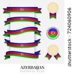 azerbaijan flag ribbon banner...   Shutterstock .eps vector #724060906