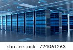 network server room with... | Shutterstock . vector #724061263