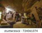 the derinkuyu underground city... | Shutterstock . vector #724061374