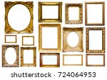 assortment of golden and... | Shutterstock . vector #724064953