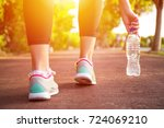 fitness woman training and... | Shutterstock . vector #724069210