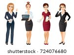 business woman in elegant... | Shutterstock .eps vector #724076680