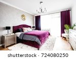 simple and stylish bedroom... | Shutterstock . vector #724080250