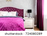 matrimonial double bed in... | Shutterstock . vector #724080289