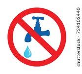not drinking water. no water... | Shutterstock .eps vector #724103440