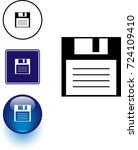 floppy disk symbol sign and... | Shutterstock .eps vector #724109410