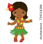vector cute little  girl in in... | Shutterstock .eps vector #724116286
