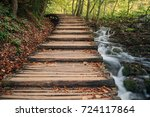 deep forest stream with crystal ... | Shutterstock . vector #724117864