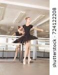 ballet class  girl ballerina... | Shutterstock . vector #724122208