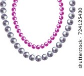 shiny elegant necklace. pearl... | Shutterstock .eps vector #724125430