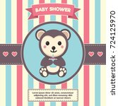 baby shower background message... | Shutterstock .eps vector #724125970