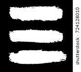 set of hand painted white brush ...   Shutterstock .eps vector #724128010