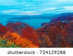 fall scenery of beautiful...   Shutterstock . vector #724129288