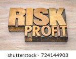 risk and profit word abstract... | Shutterstock . vector #724144903