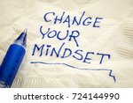 change your mindset advice or... | Shutterstock . vector #724144990