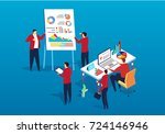 team big data analysis | Shutterstock .eps vector #724146946