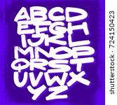 alphabet. vector background | Shutterstock .eps vector #724150423