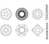 festive geometric pattern for... | Shutterstock .eps vector #724153969