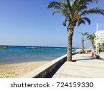 view to the mediterranean sea... | Shutterstock . vector #724159330