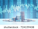graph coins stock finance and... | Shutterstock . vector #724159438