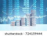 graph coins stock finance and... | Shutterstock . vector #724159444