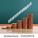 graph coins stock finance and... | Shutterstock . vector #724159474