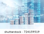 graph coins stock finance and... | Shutterstock . vector #724159519