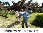 toraja   indonesia  1 july 2009 ... | Shutterstock . vector #724163179
