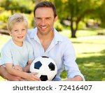 father with his son after a... | Shutterstock . vector #72416407