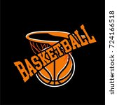 basketball badge logo yellow... | Shutterstock .eps vector #724166518