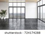 modern bright interiors empty... | Shutterstock . vector #724174288