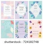 wedding invitation card... | Shutterstock .eps vector #724182748