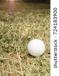 golf ball on course | Shutterstock . vector #724183900
