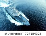 military ship | Shutterstock . vector #724184326