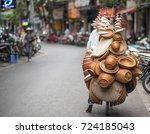 Street Vendor In Hanoi  Vietnam
