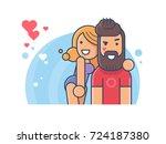 happy couple in love | Shutterstock .eps vector #724187380