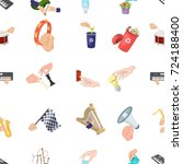 musical instrument  garbage and ... | Shutterstock .eps vector #724188400