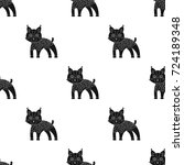 lynx  single icon in black... | Shutterstock .eps vector #724189348