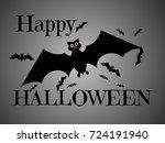 happy halloween design... | Shutterstock .eps vector #724191940