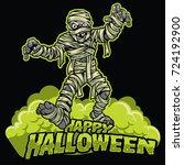 halloween design of mummy | Shutterstock .eps vector #724192900