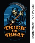 halloween design of grim reaper | Shutterstock .eps vector #724192933