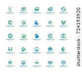 set medical logo vector.... | Shutterstock .eps vector #724193920