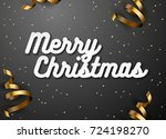 merry christmas text design.... | Shutterstock .eps vector #724198270