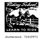 Riding School   Retro Ad Art...