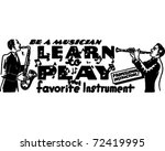 Learn To Play   Retro Ad Art...